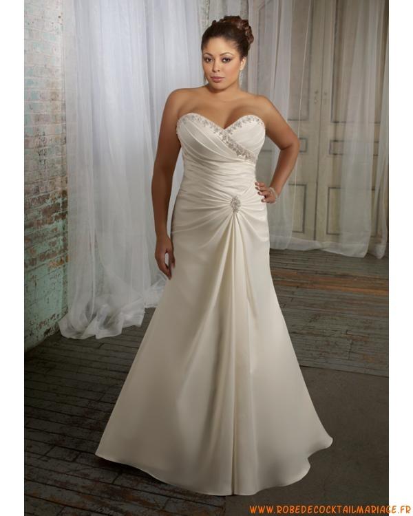 Bustier robe de mariee 2012 grande ornée de cristal avec tr...