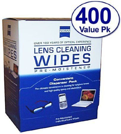 #onsale Size: 400 Count #Zeiss lens cleaning wipes safely and quickly clean most optics, including eyeglass lenses, laptop screens, camera lenses, sunglasses, ce...
