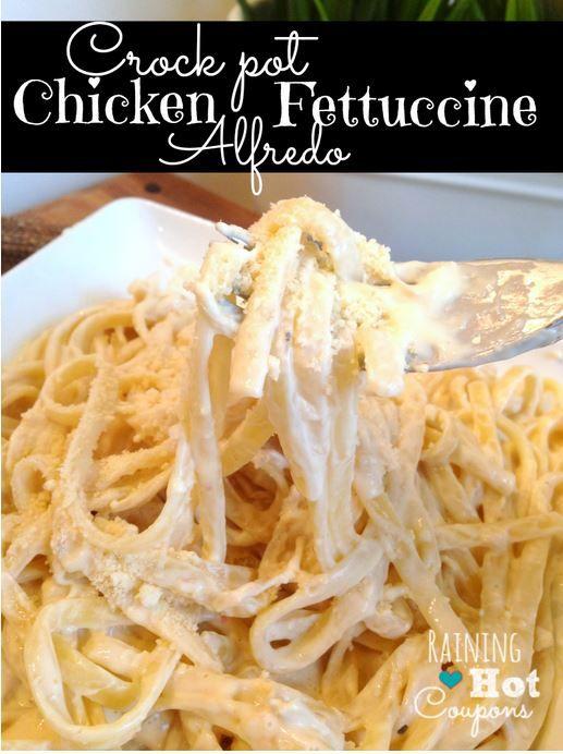 Crock Pot Chicken Fettuccine Alfredo