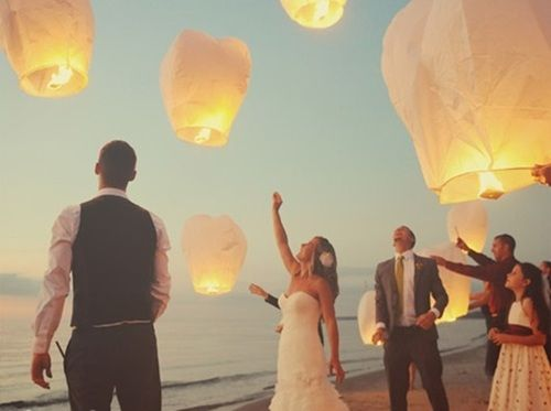 An idyllic setting for post-wedding lanterns... I def want our kids, parents,  bridal party to do the eternity lantern ceremony during the reception!!