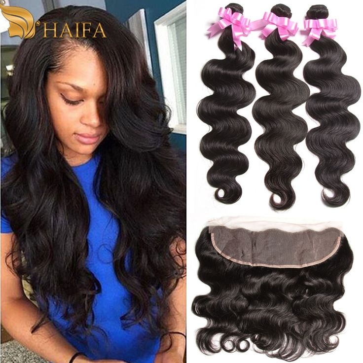 Malaysian Virgin Hair Body Wave Ear to Ear Lace Frontal Closure With Bundles 4 Pcs/lot 100% Human Hair Weave Rosa Hair Products