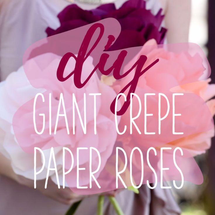 DIY Giant Paper Roses