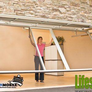 portable garage door screens