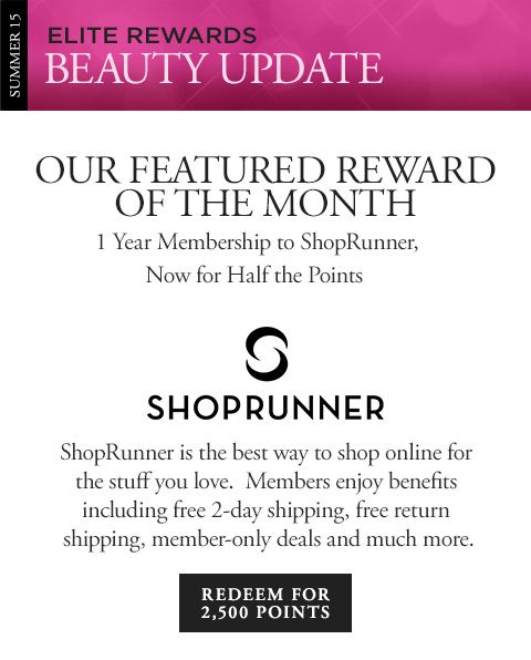 OUR FEATURED REWARD OF THE MONTH