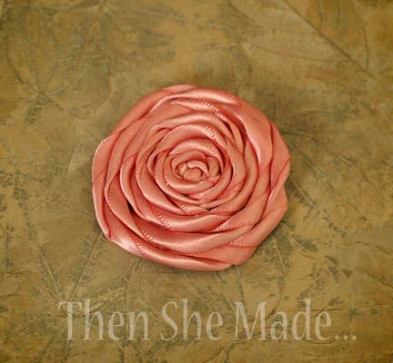 Then she made...: Ribbon Flower Tutorial - no sew, just hot glue