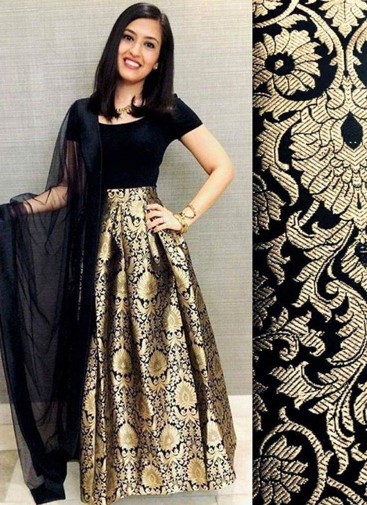 Black Brocade Dress More