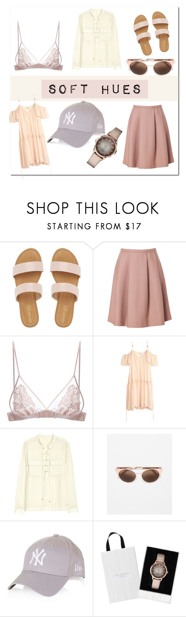 """""""Soft Hues // Blog Post"""" by simply-ashley ❤ liked on Polyvore featuring Tara Jarmon, Fleur of England, H&M and Zara"""