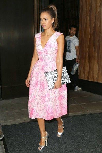 Jessica Alba Evening Dress - Jessica Alba Fashion Looks - StyleBistro