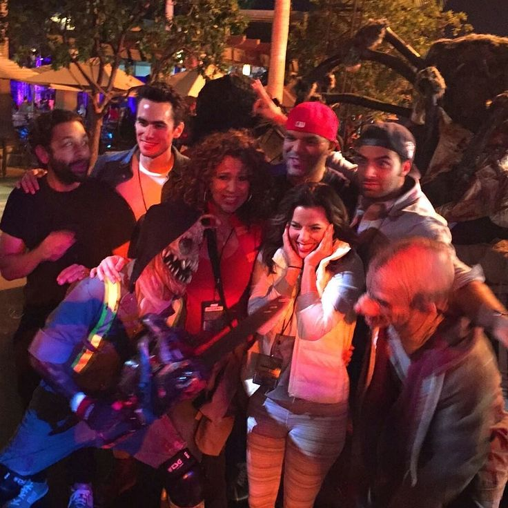"""The cast of Hot & Bothered looked a little bit of both at Universal Studios' Hollywood Horror Nights. Director and star Eva Longoria posted an Instagram photo of everyone getting their scare on Oct. 25 with the caption: """"Do we look bothered?"""" Eva's face tells it all."""