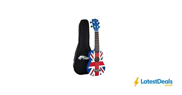 Tiger UKE10-UK Union Jack Soprano Ukulele with Bag *HALF PRICE* Free Delivery, £19.99 at Amazon UK