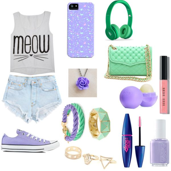 State Fair Outfit, created by nalekafri on Polyvore- I like everything minus the beats.