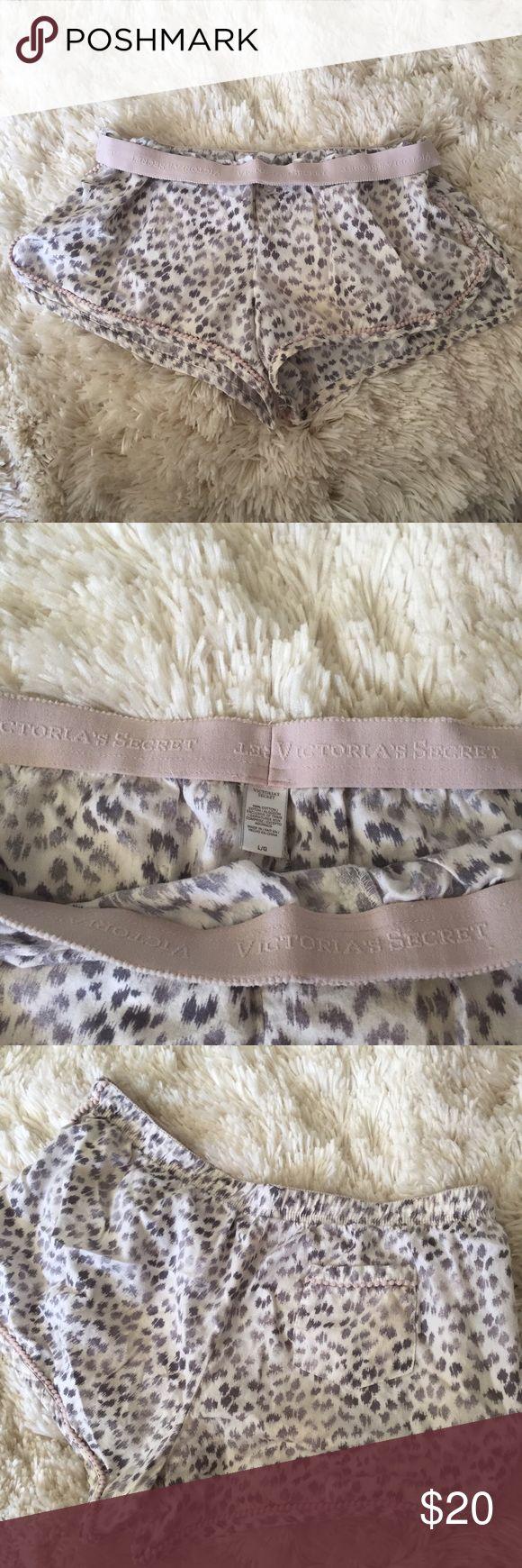 Victoria Secret pj shorts Never worn, super soft pajama shorts. Size Large, Victoria's Secret with snow leopard pattern. NWOT Victoria's Secret Shorts