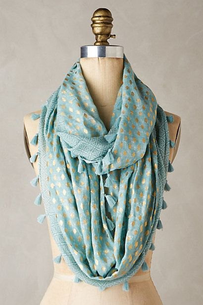 Love these colors. Taisie Infinity Scarf #anthropologie