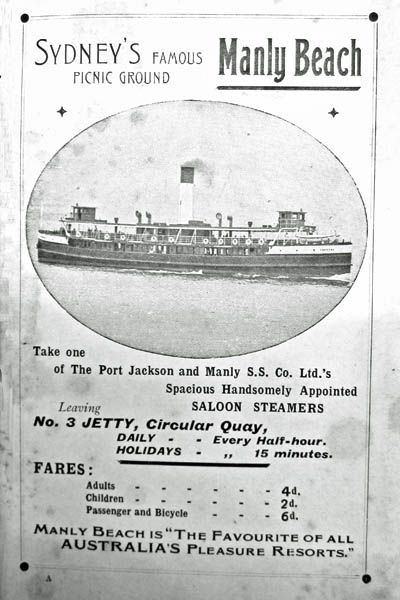 steamer to Manly