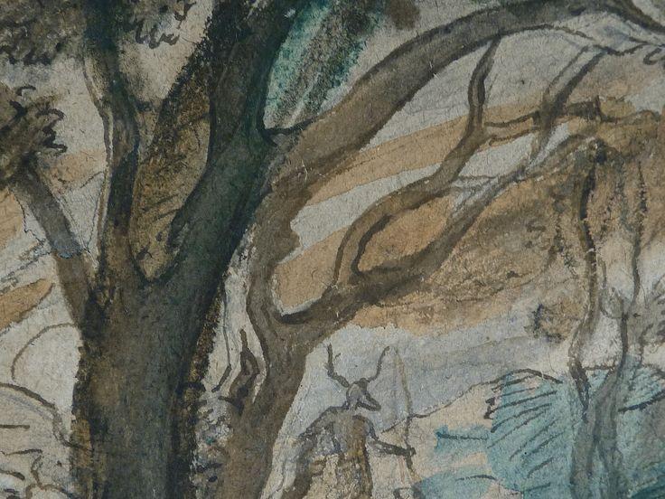 CHASSERIAU Théodore,1840 - Diane et Actéon, Etude - Détail 06