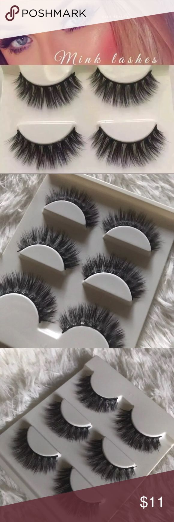 Mink Lashes 3 pairs +$2 Add on eyelash Applicator  +$3 Add on eyelash glue Please message me if you want to add them.   ❌No Offers ✅ Bundle &  Save  # tags Iconic, mink, red cherry eyelashes, house of lashes, doll, kawaii, case, full, natural,  Koko, Ardell, wispies, Demi , makeup, Iconic, mink, red cherry eyelashes, house of lashes, doll, kawaii, case, full, natural,  Koko, Ardell, wispies, Demi , makeup, mascara, eyelash applicator, Mykonos Mink , Lashes , wispy ,eyelash case, mink lashes