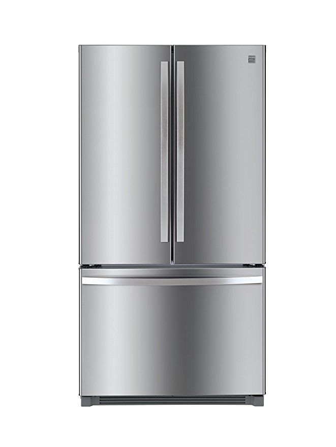 Kenmore 73025 26 1 Cu Ft Non Dispense French Door Refrigerator In Stainless Steel With Active Finis Refrigerator French Door Bottom Freezer Best Refrigerator