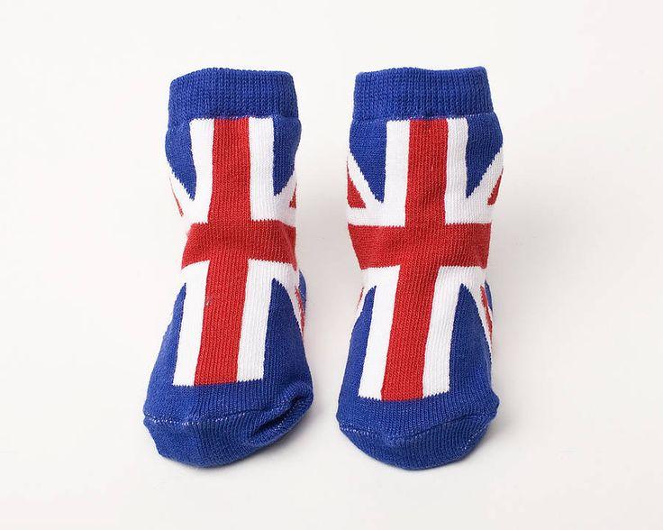 baby union jack socks by diddywear | notonthehighstreet.com