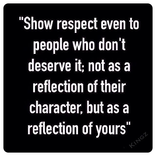 And don't just do it for your character to shine...do it because it's good to do!