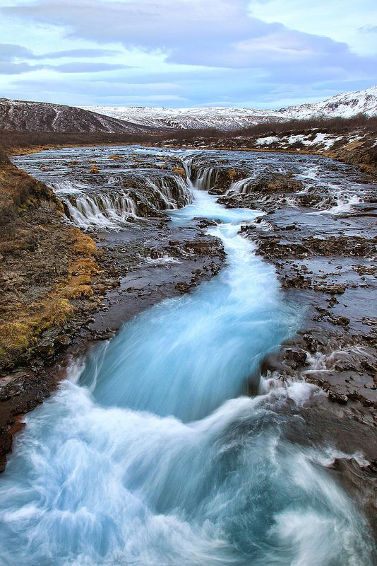 Swirling River and Waterfalls in iceland | Wanderlust ...