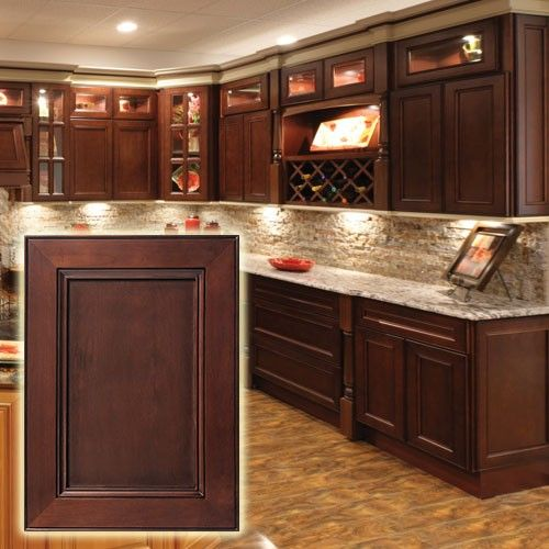 Cabernet Colored Kitchen Cabinets