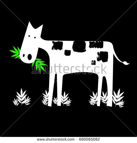 cow vector cartoon farm cute animal illustration