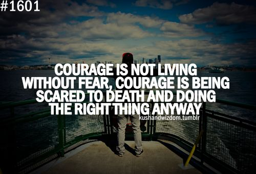 not without fear Living life without fear quotes - 1 the brave may not live forever, but the cautious don't live at all read more quotes and sayings about living life without fear.