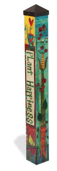 plant happiness peace pole