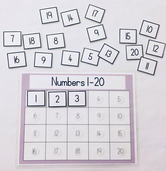 Matching Numbers 1 20 Learning Game Educational Math Game Preschool Game Kindergarten Game Kids Games File Folder Game Children S Game Educational Math Games Preschool Math Games Kindergarten Games Preschool matching numbers 20