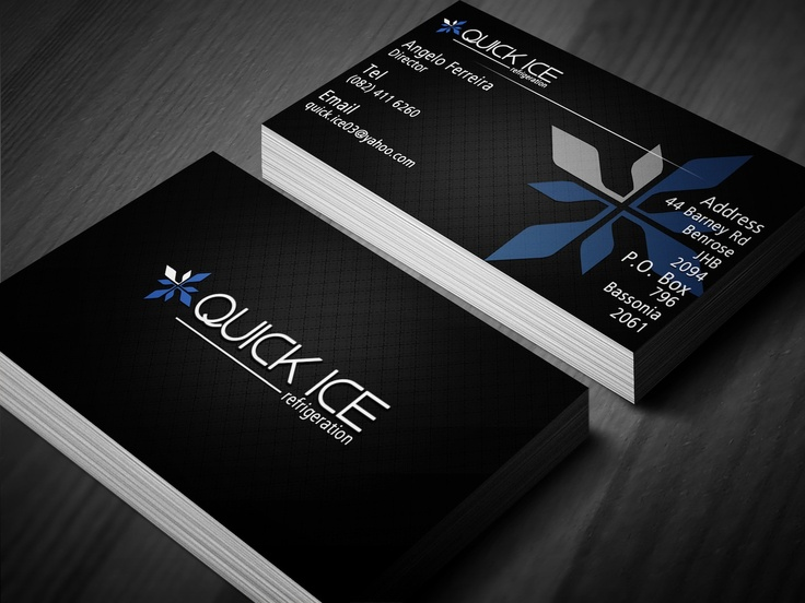 Quick Ice Business Card Design