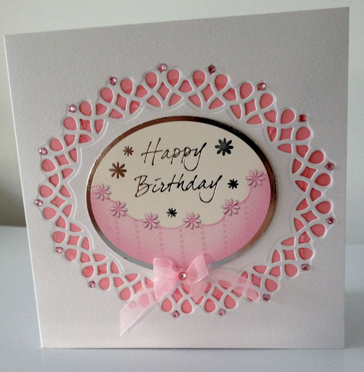 5x5 Made in Pink & white using Tonic Verso Dies
