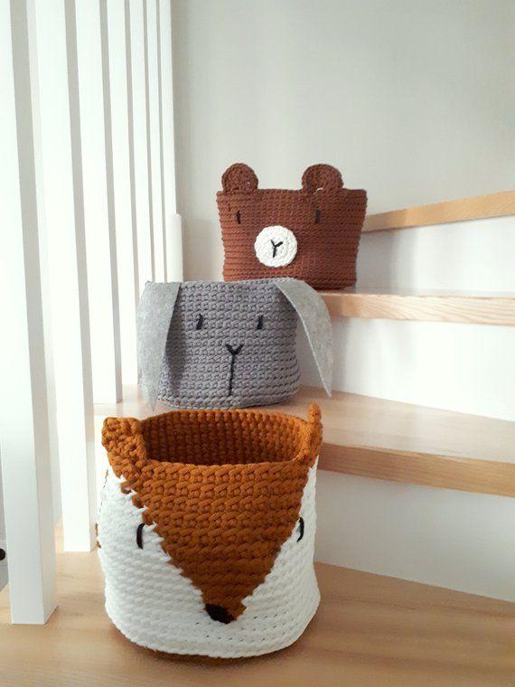 Teddy Bear Toy Storage Basket Nursery Storage Gift For Baby Nursery Decor Woodland Nursery Decor Toys Storage Solution Kids Toy Basket Toy Storage Baskets Toy Basket Storage Baskets