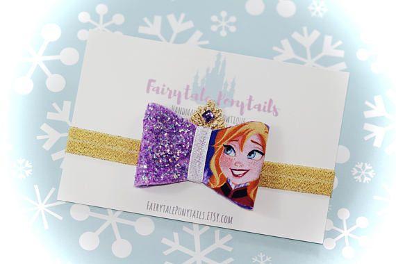 ANNA Glitter Bow Headband Glitter Adjustable