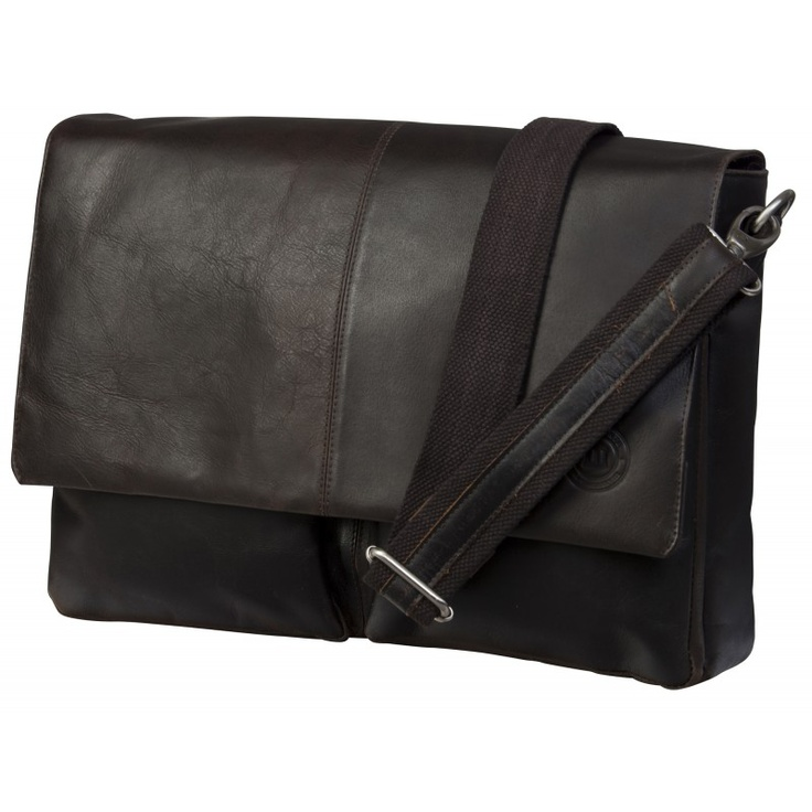"Leather messenger for PC & MacBooks up to 16"" - Hunter dark. How cool is that?"