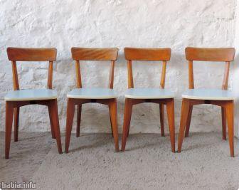conjunto de sillas de comedor francesas aos vintage vendido