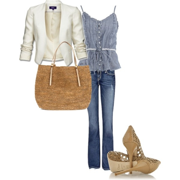 summer casual day to night, created by buffywarren on Polyvore