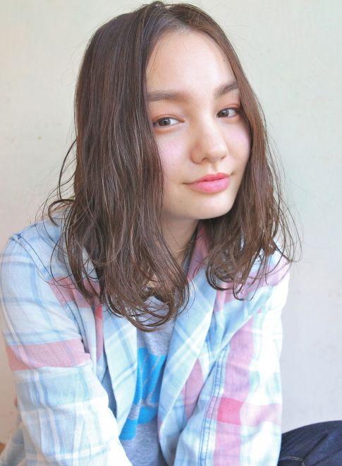 ダークアッシュ☆セミウェット(ミディアム) たまご型顔さん向きヘア♪