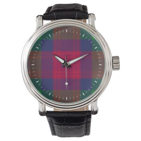 Clan Akins Tartan Wrist Watch #tartan #pattern #watches