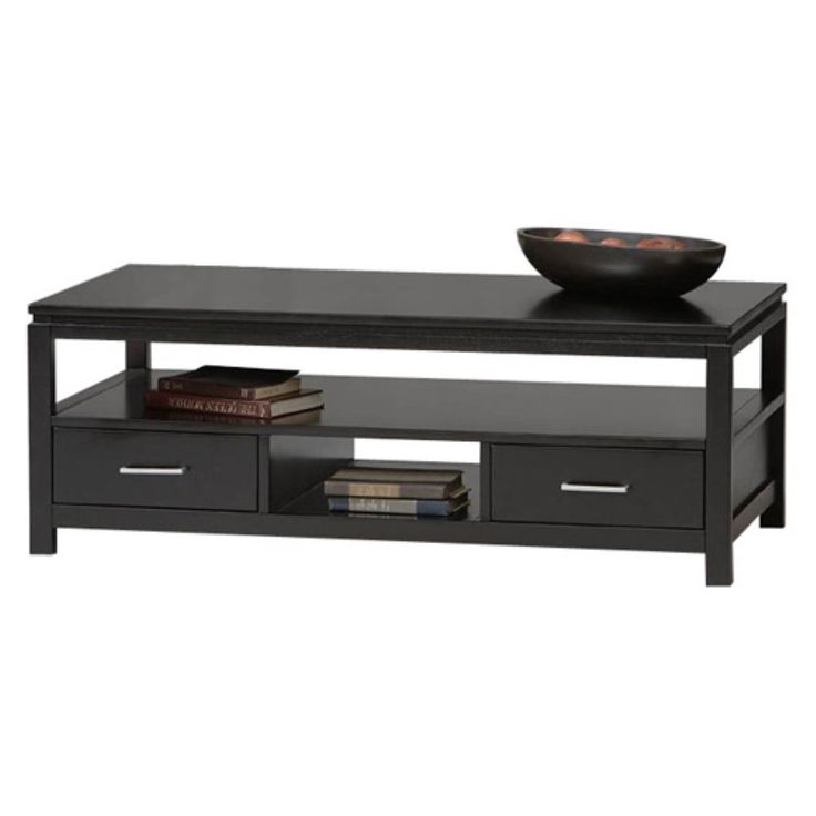 Sutton Black Coffee Table - Coffee Tables at Hayneedle