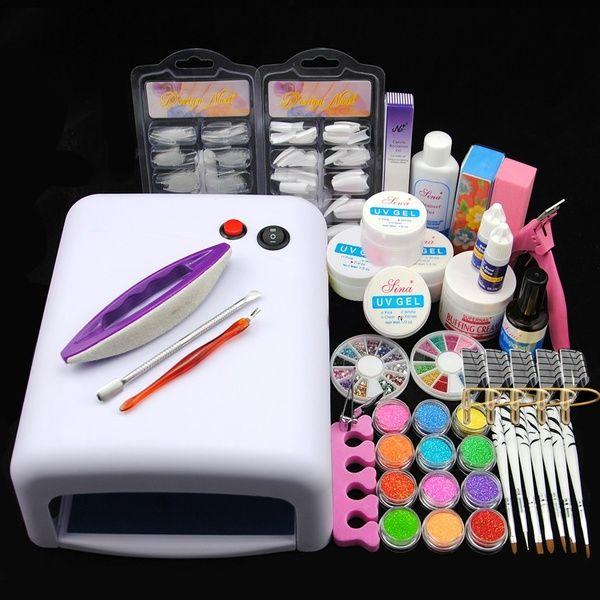 Uvnailgel Moda Art Beleza 4 Acrylic Nail Kit Nail Art Kit Diy Acrylic Nails