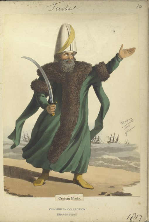 Captain Pasha. The Vinkhuijzen collection of military uniforms / Turkey, 1812. See McLean's Turkish Army of 1810-1815.