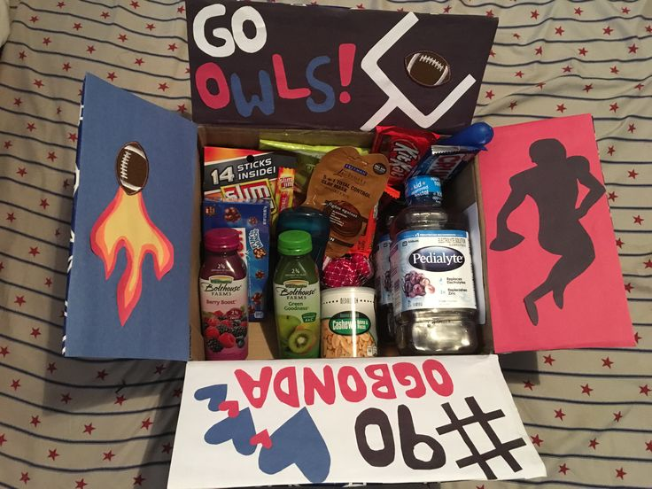 Football Camp Care Package for my boyfriend!