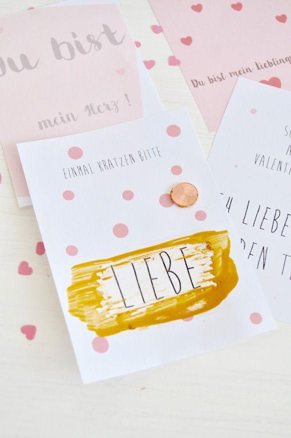 Rubbelkarten Zum Valentinstag Von