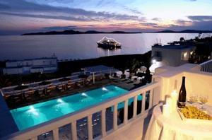 Manoula's Beach Hotel, Agios Ioannis Mykonos, Griekenland