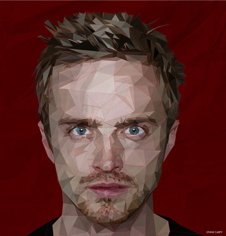 lynnennyl:  vector portrait of Aaron Paul