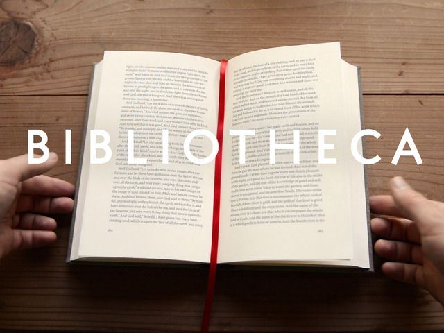 Bibliotheca - The Biblical Literature designed & crafted for reading, separated into four elegant volumes, and free of all numbers, notes, etc.