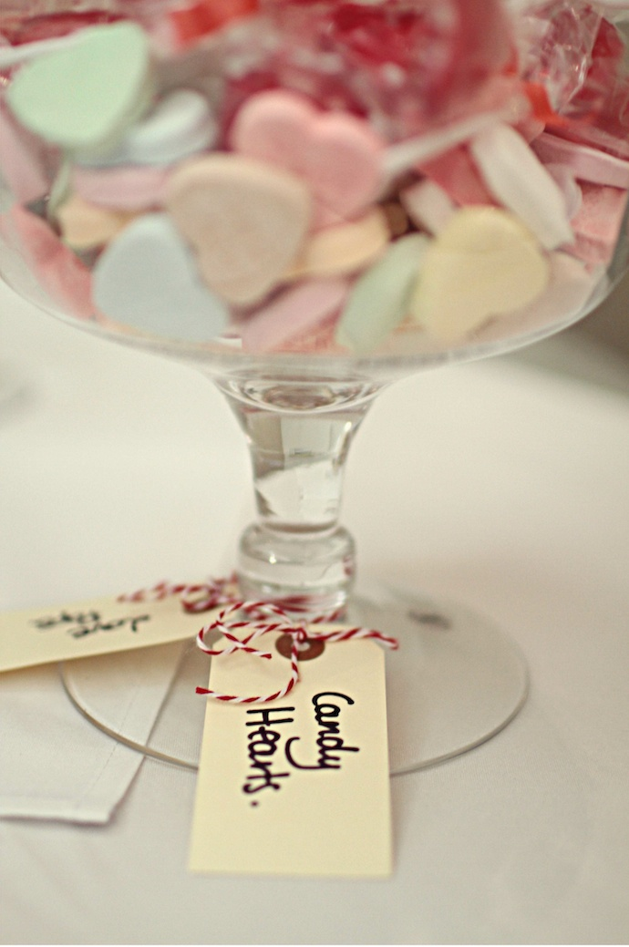 Candy Hearts from our wedding reception.