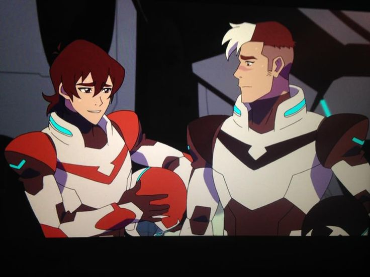 Keith and Shiro the Red and Black Paladins from Voltron Legendary Defender