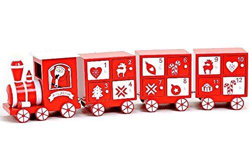 4 TLG. ZUG ROT / WEIß ADVENTSKALENDER EISENBAHN LOKOMOTIVE HOLZ MIT 24 KÄSTCHEN Siehe mehr unter http://www.woonio.de/p/4-tlg-zug-rot-weiss-adventskalender-eisenbahn-lokomotive-holz-mit-24-kaestchen/