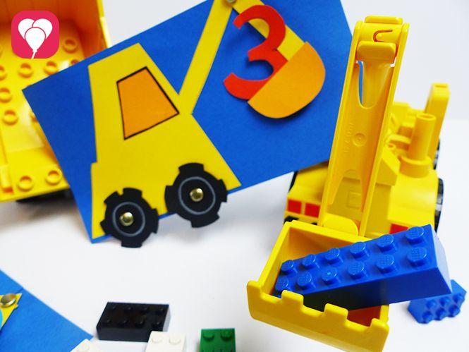 9 DIY Bagger Einladung Bauarbeiter Kindergeburtstag